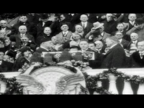 HD Stock Footage Herbert Hoover 1929 Reel 1, 31st U.S. President