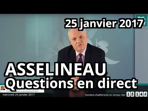 Entretien en direct de François Asselineau sur Facebook - Mercredi 25 janvier 2017