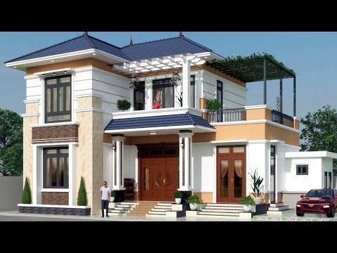 NTN nhà đẹp 16   biệt thự nhà vườn mái Nhật hai tầng 2021 bốn phòng ngủ chi phí 800 free bản vẽ 👍💞🇻🇳