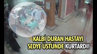 Kalbi Duran Hastayı Sedye Üstünde Kurtardı!