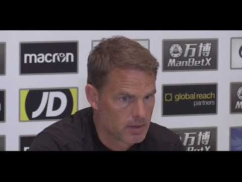 Crystal Palace manager Frank de Boer on 1 0 loss to Burnley