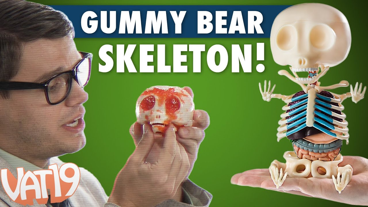 Gummy Bear Skeleton - YouTube
