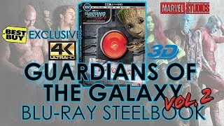 Guardians of the Galaxy Vol. 2 4K Ultra HD & 3D Blu-ray Steelbook Unboxing | Best Buy Exclusive