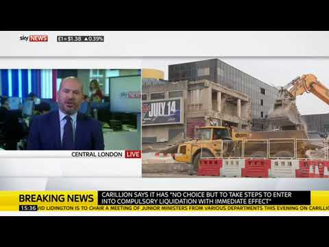 Mark Farmer, CEO of Cast, discussing Carillion and the construction industry on Sky News