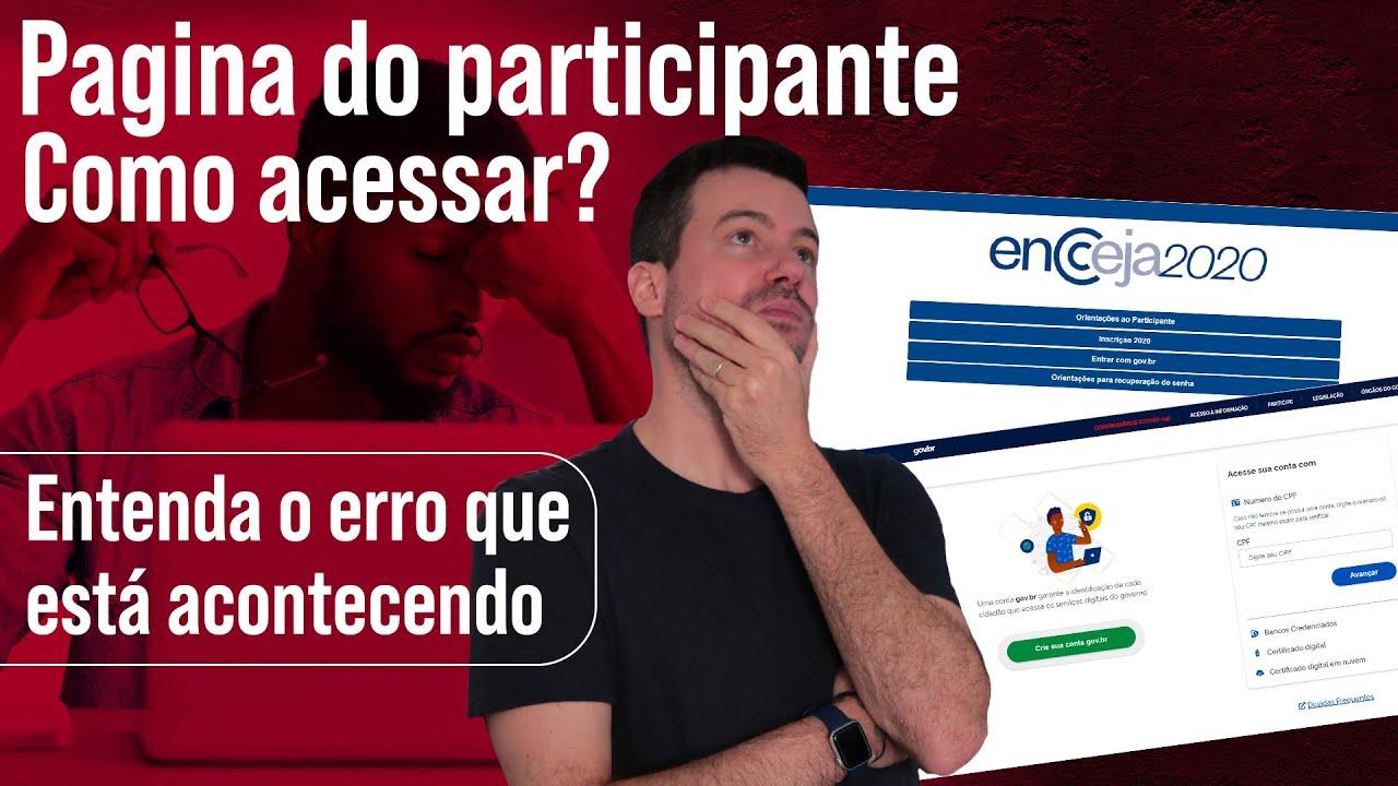 Página do Participante - Como Acessar? | ENCCEJA