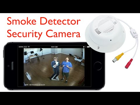 Hidden Smoke Detector Security Camera Video Surveillance Demo