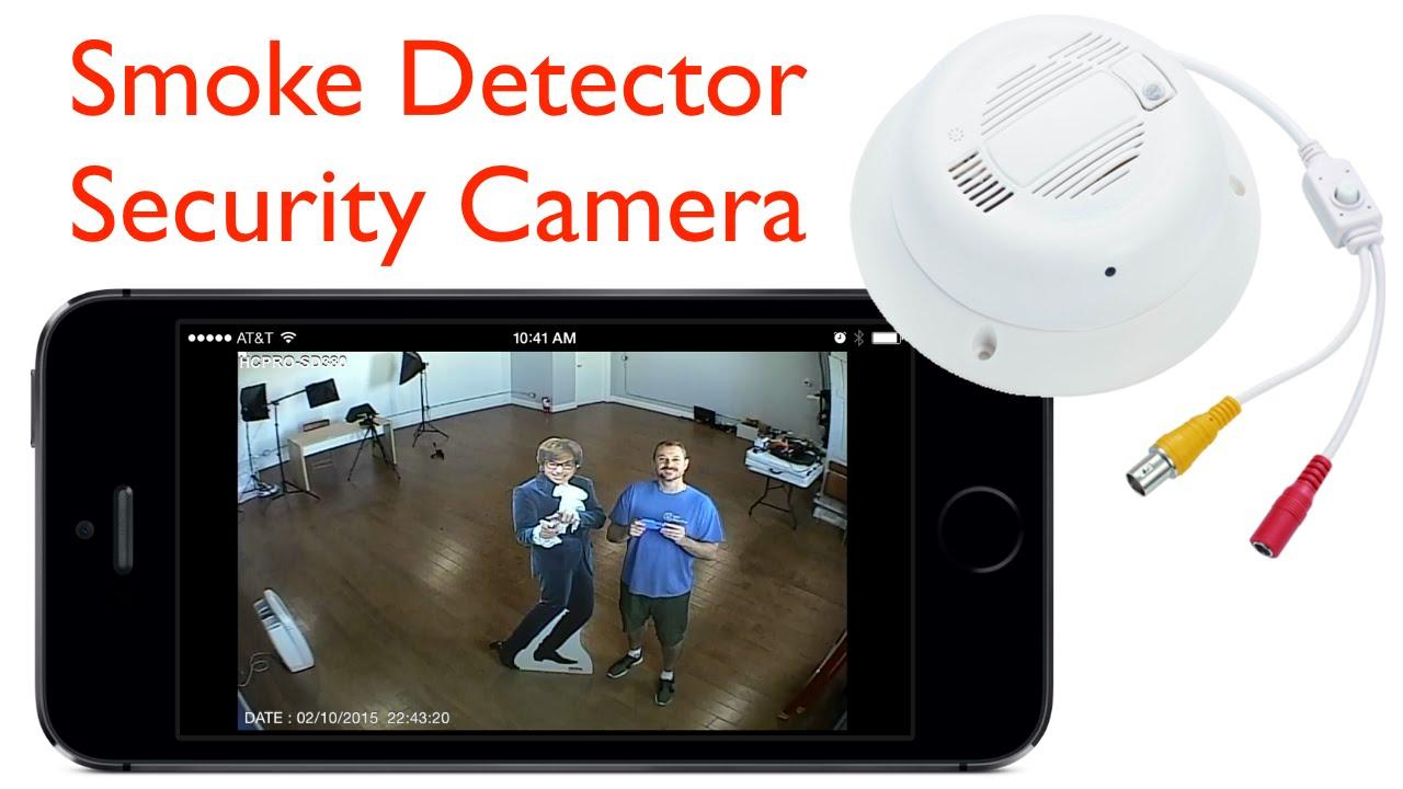 Hidden Smoke Detector Security Camera Video Surveillance Demo