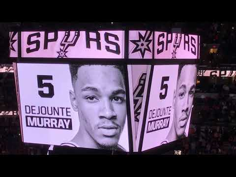 2017-18 San Antonio Spurs Player Intro Video