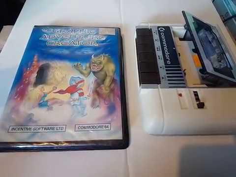 THE GRAPHIC ADVENTURE CREATOR Commodore 64 C64 Case Cassette Manual View  30 10 18