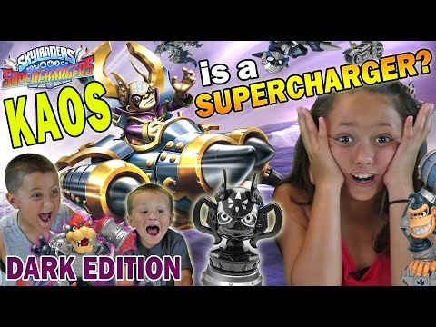 KAOS is a SUPERCHARGER? 3 Dark Edition Starter Packs for Skylanders Superchargers w/ GAMEPLAY! REACT
