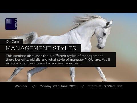 Management Styles Webinar