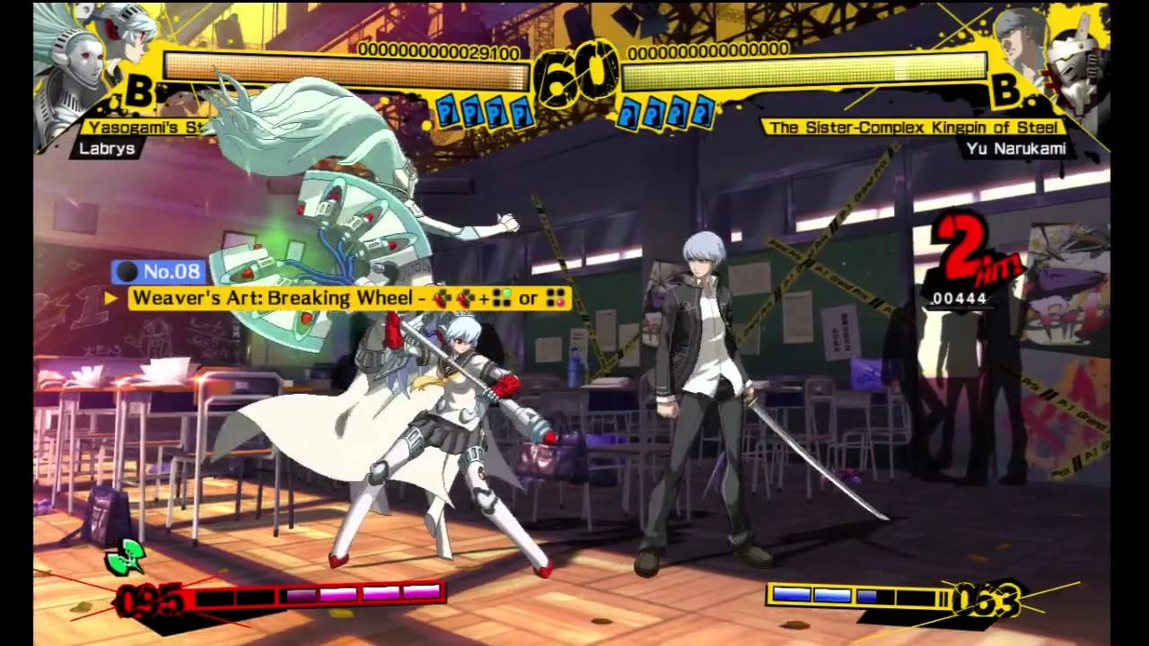Persona 4 Arena Gameplay Labrys Challenge Mode 1 14 Youtube