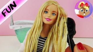 Upiększamy posklejane i splątane włosy Barbie dentystki