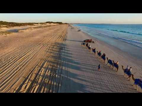 DJI Phantom 3 pro flight - Cable Beach, Western Australia