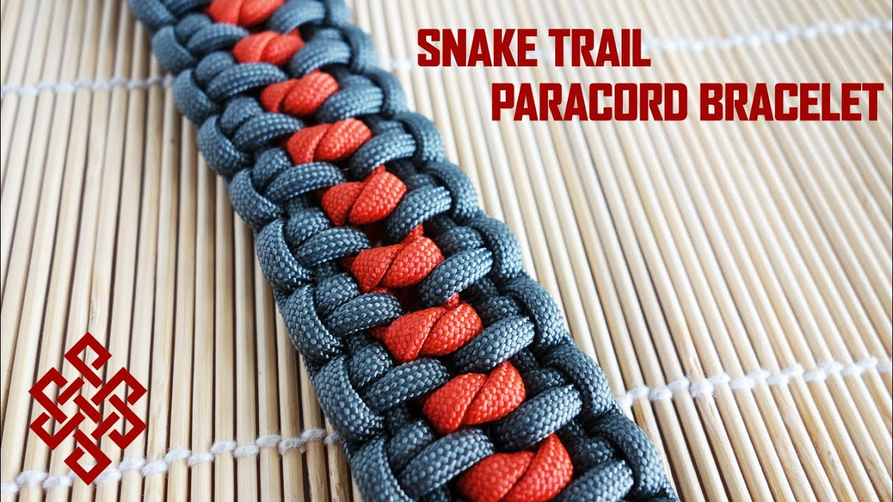 How To Make The Snake Trail Paracord Bracelet Tutorial Youtube