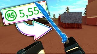 SPENDING ROBUX on NEW ROBLOX KNIFE UPDATE. (Forces fantômes)