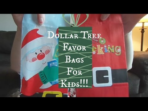 """Christmas Party Favor Bags for Kids- Dollar Tree """"Haul"""""""