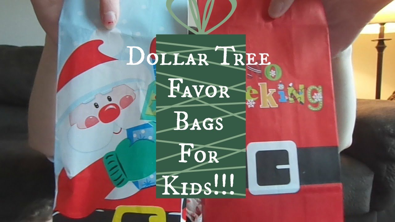 christmas party favor bags for kids dollar tree haul youtube
