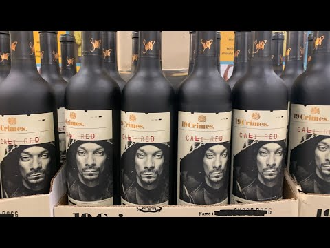 Snoop Dogg's Face On 19 Crimes Wine Bottle - The L.A. King Of Rap Is Everywhere