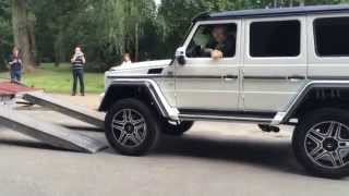Mercedes-Benz G500 4x4² V8 Brutal Exhaust Sound 2015 PRESENTATION