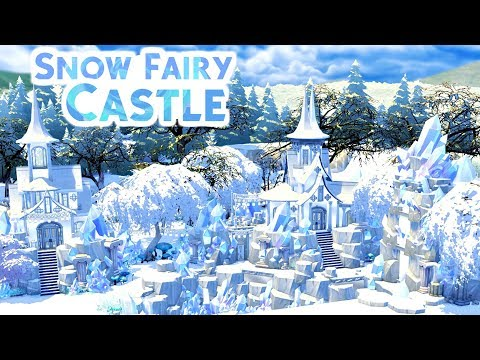SNOW FAIRY ICE CASTLE w/ Simarchy | Sims 4 Speed Build