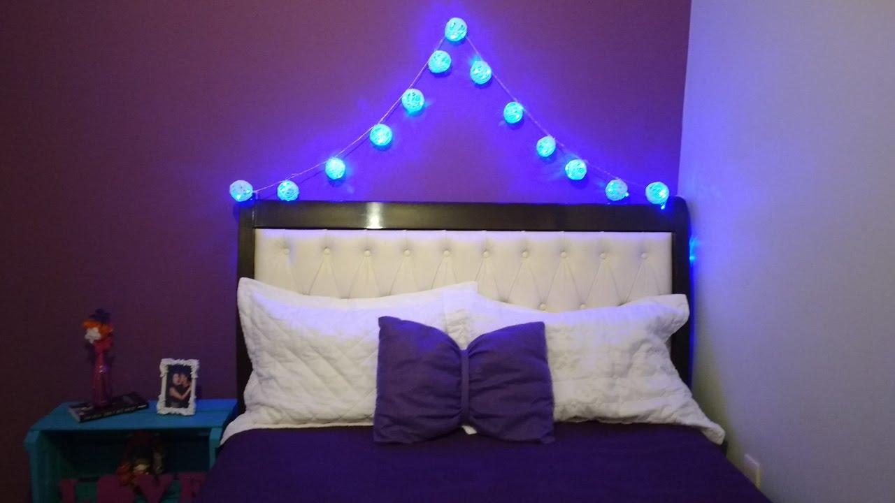 DIY  Luzes com bolinhas  Decoração para o quarto!!!  YouTube