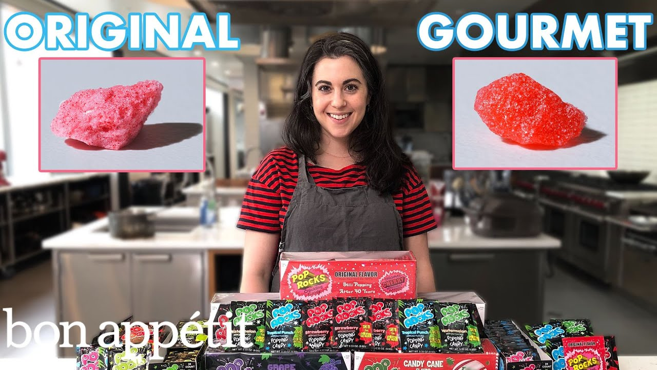 Pastry Chef Attempts to Make Gourmet Pop Rocks | Gourmet Makes | Bon Appétit
