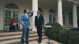 President Obama Helps 'Hamilton' Creator Lin-Manuel Miranda Freestyle Rap