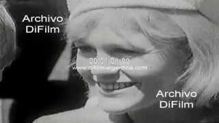 DiFilm - Actores de Suecia llegan al Festival de Mar del Plata 1966