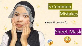 Download lagu 5 Sheet Mask Mistakes I Wish I Didn't Do!