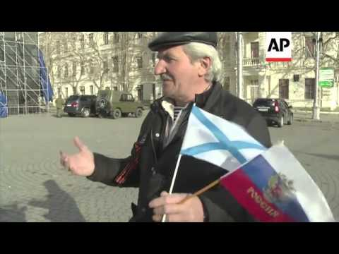 Reactions to results of referendum in Crimea with final count showing 97 percent back joining Russia
