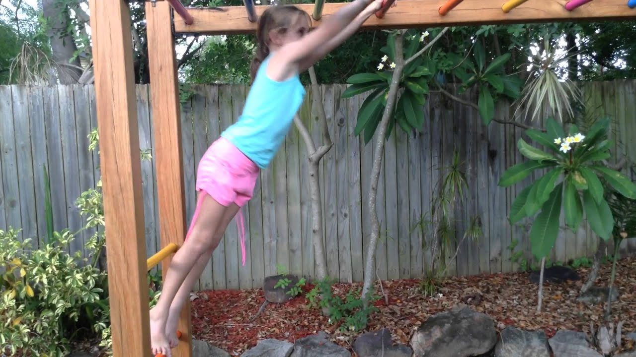 front and back flips on the monkey bars youtube