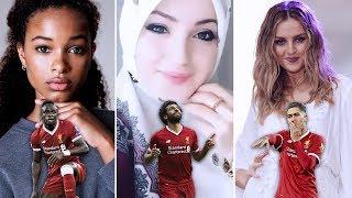 أجمل زوجات أشهر لاعبي ليفربول .. زوجة محمد صلاح ماجي صادق 😮😍