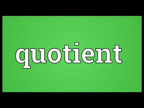 Quotient Meaning