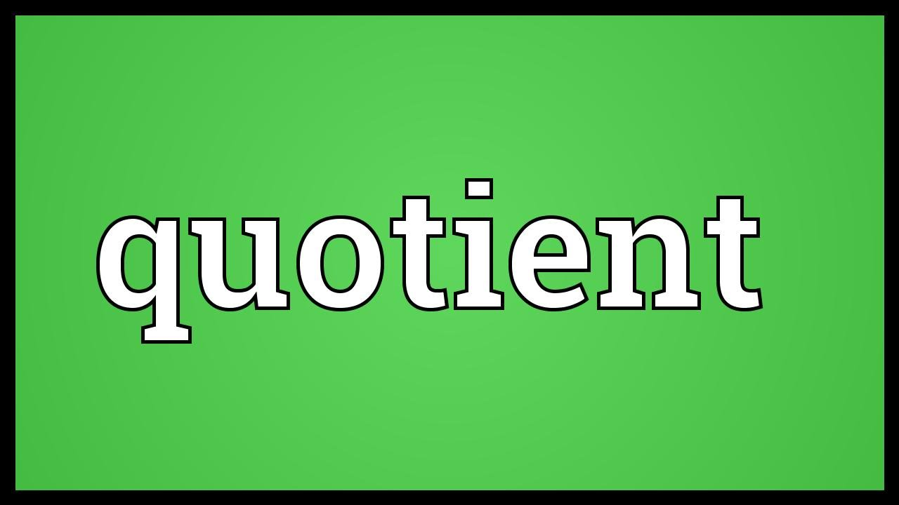 quotient meaning youtube