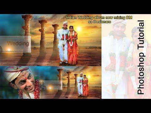 Indian Wedding album new mixing DM   Photoshop Tutorial ss Desionars
