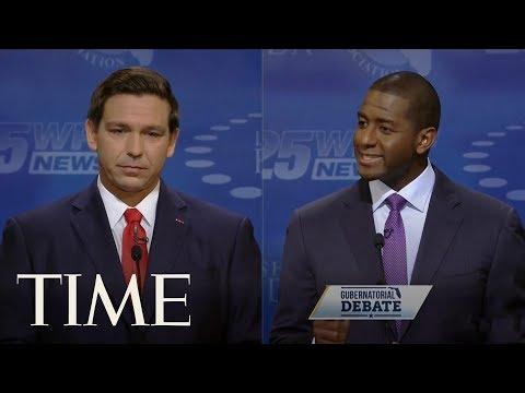 Andrew Gillum And Ron Desantis Florida Governor Debate Gets Heated | TIME