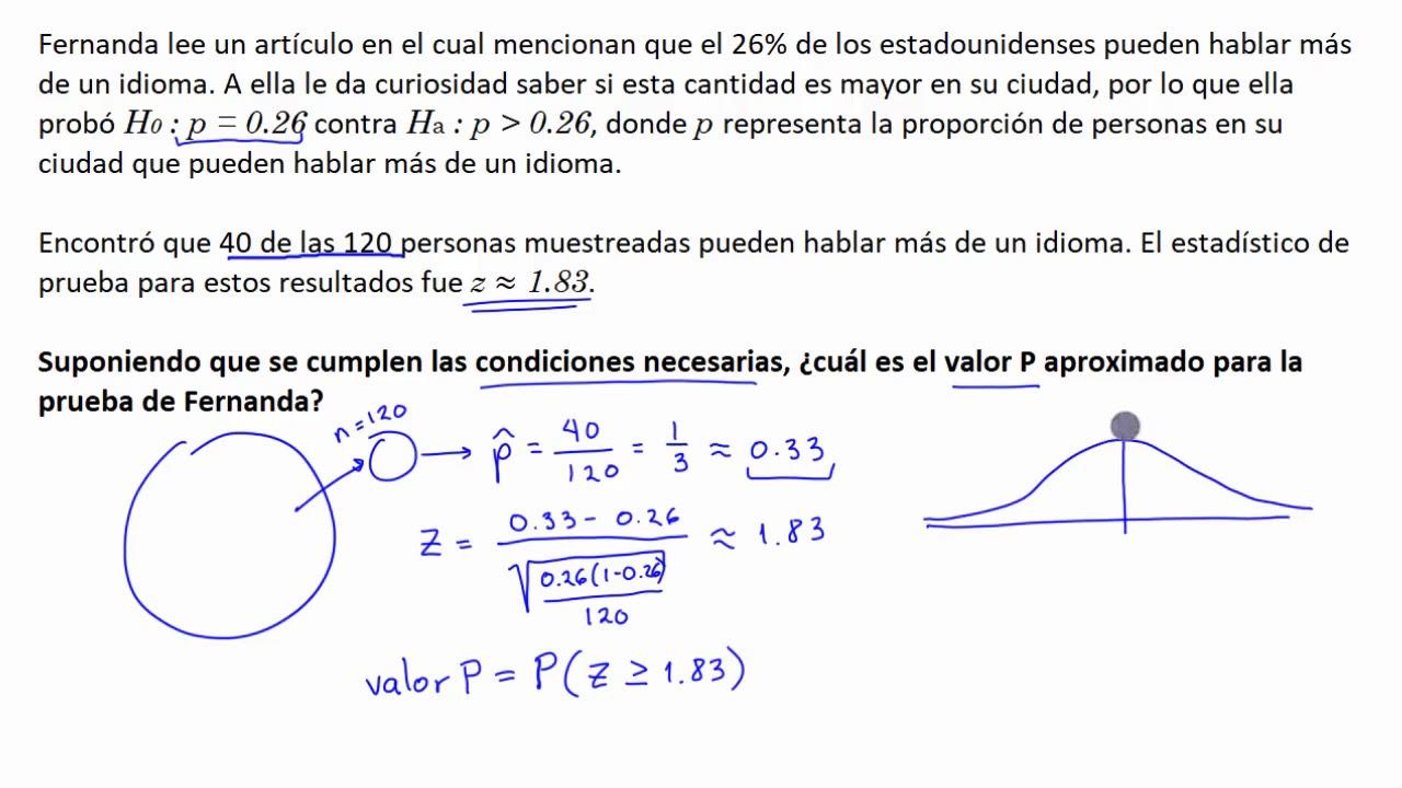 Calcular el valor p con el uso de una tabla z khan academy en espa ol youtube - Calcular valor tasacion piso ...