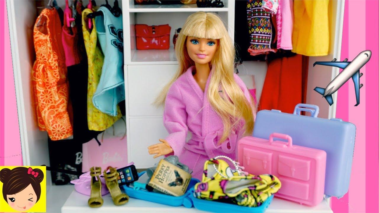 Barbie Empaca Sus Maletas Para Viajar Los Juguetes De Titi Youtube