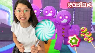 ROBLOX-The GINGERBREAD COOKIE WENT CRAZY (Escape CandyLand) | Luluca Games