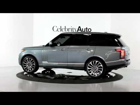 "Range Rover Autobiography Black Interior >> 2014 RANGE ROVER AUTOBIOGRAPHY GREY/RED 22"" STLYE 7 WHEELS - YouTube"