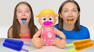 Маша готовит мороженное Story about Ice Cream and Doll