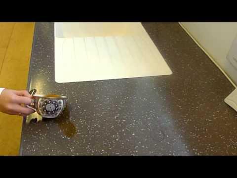 видео: Мойка с подстольным монтажем в столешницу из искусственного камня getacore с авкастопом