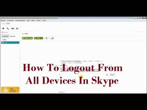 How To Logout From All Devices In Skype (How To Signout From All Devices In Skype)