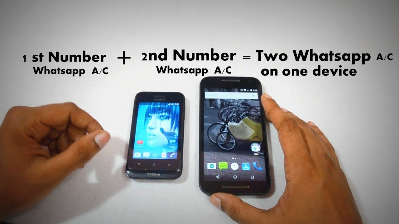Phone Number One Android Phone how to activate two whatsapp account in one android device using disa app updated 2015 youtube