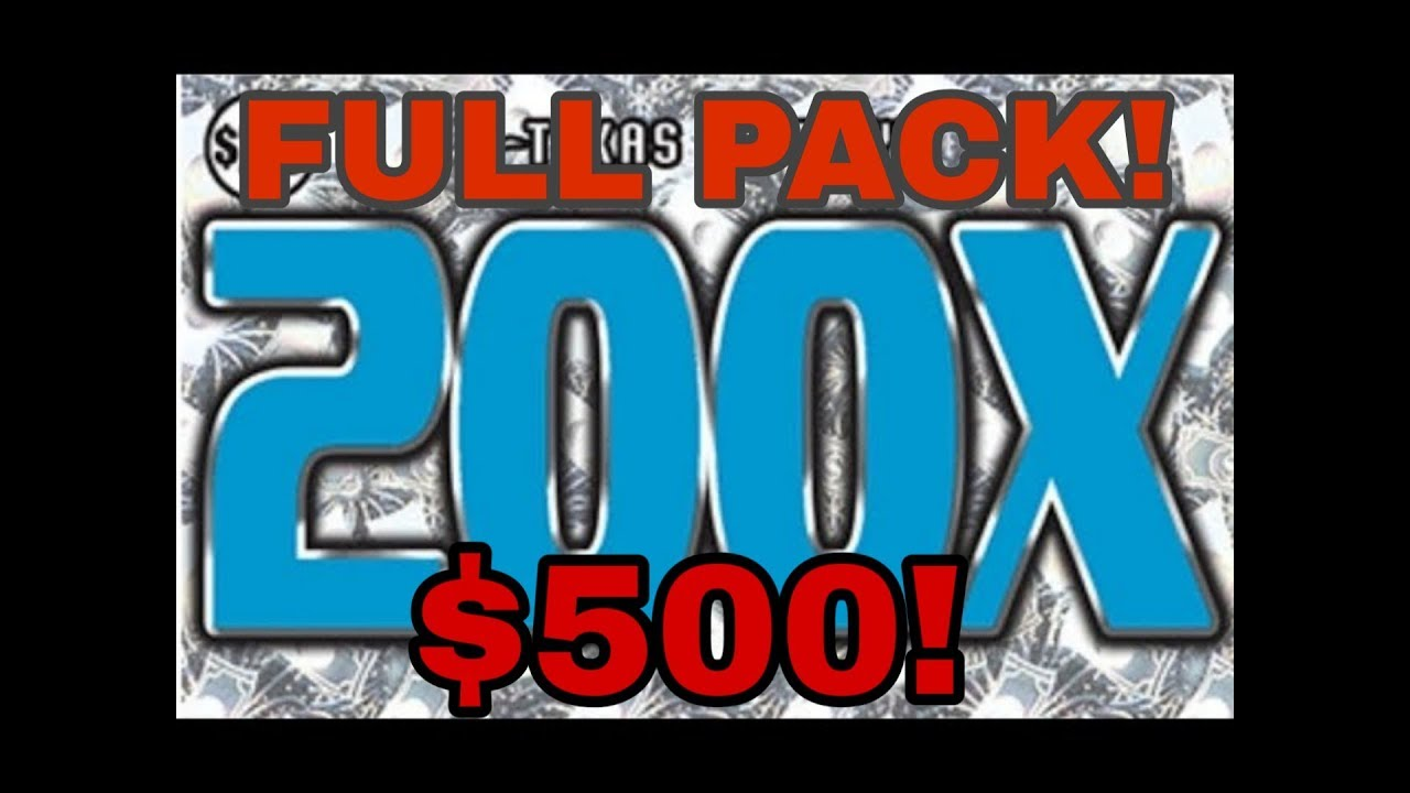 FULL PACK! BRAND NEW! $20 200X! TEXAS LOTTERY SCRATCH OFF TICKETS!