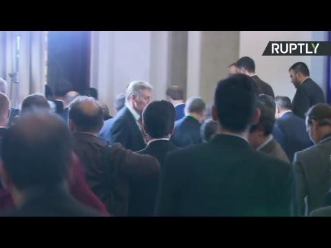 Communiqué de presse conjoint de Vladimir Poutine, Hassan Rohani et Ilham Aliev après leur rencontre