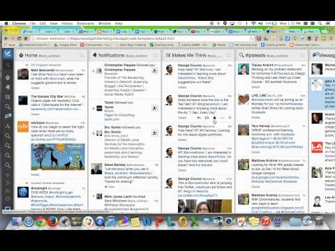 How to Use Twitter or Tweetdeck to follow a Twitter Conversation