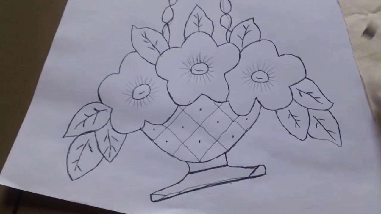 Como Hacer Dibujos Para Bordar En Servilletas Con Pantometro Youtube