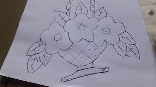 como hacer dibujos para bordar en servilletas con pantometro